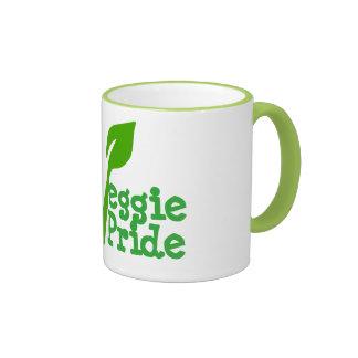 VEGETARIAN ,veggie pride Ringer Mug