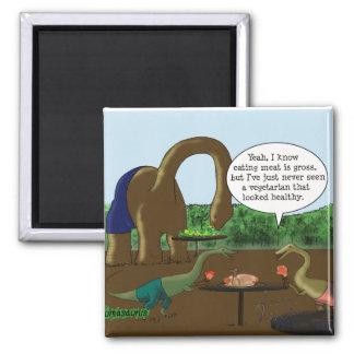 Vegetarian vs. Carnivore Fridge Magnets