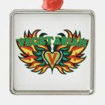 Vegetarian Wings Christmas Tree Ornament