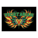 Vegetarian Wings Print