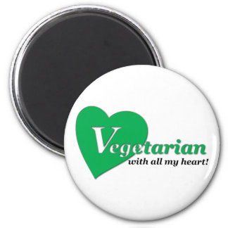 Vegetarian with all my heart magnet