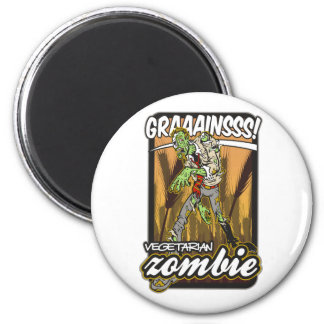 Vegetarian Zombie 2 Inch Round Magnet