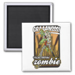 Vegetarian Zombie 2 Inch Square Magnet