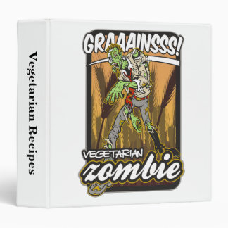 Vegetarian Zombie Vinyl Binders