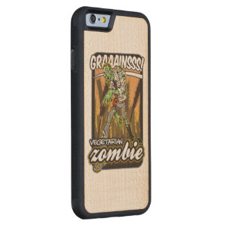 Vegetarian Zombie Carved® Maple iPhone 6 Bumper