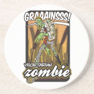 Vegetarian Zombie Drink Coaster