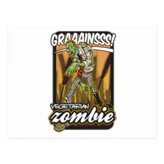 Vegetarian Zombie Postcard