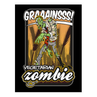 Vegetarian Zombie Post Cards