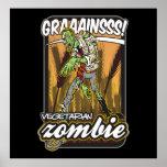Vegetarian Zombie Poster