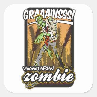Vegetarian Zombie Square Sticker