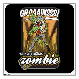 Vegetarian Zombie Wall Decal