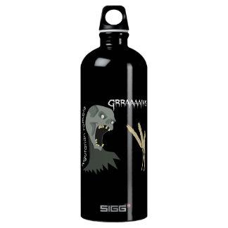 Vegetarian Zombie wants Graaaains! Aluminum Water Bottle