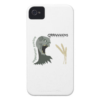 Vegetarian Zombie wants Graaaains! Case-Mate iPhone 4 Case
