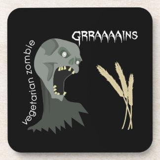 Vegetarian Zombie wants Graaaains! Drink Coaster