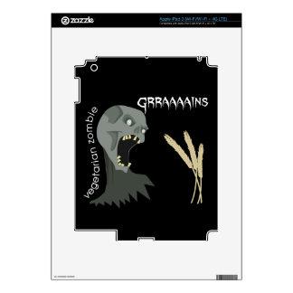 Vegetarian Zombie wants Graaaains! iPad 3 Decal