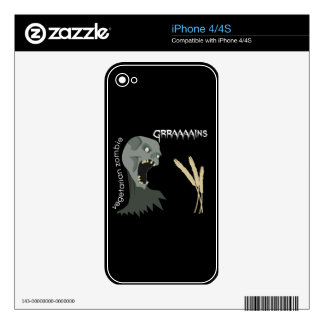 Vegetarian Zombie wants Graaaains! iPhone 4S Skin