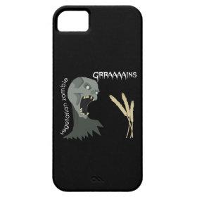 Vegetarian Zombie wants Graaaains! iPhone 5 Case