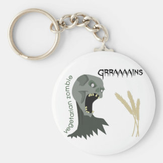 Vegetarian Zombie wants Graaaains! Basic Round Button Keychain