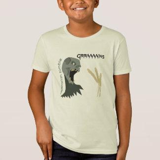 Vegetarian Zombie wants Graaaains! Kids Tshirt
