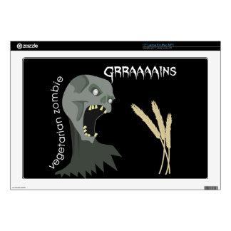 Vegetarian Zombie wants Graaaains! Laptop Skin