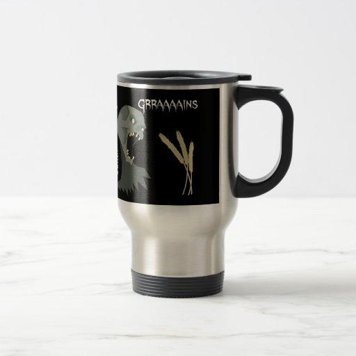 Vegetarian Zombie wants Graaaains! 15 Oz Stainless Steel Travel Mug