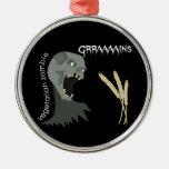 Vegetarian Zombie wants Graaaains! Christmas Ornaments