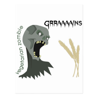Vegetarian Zombie wants Graaaains! Postcard