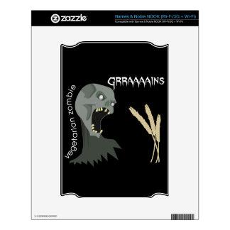 Vegetarian Zombie wants Graaaains! Decals For The NOOK