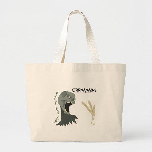Vegetarian Zombie wants Graaaains! Tote Bag
