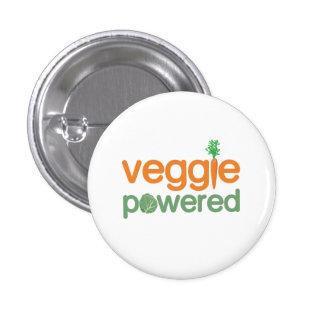 Vegetariano accionado verdura del Veggie Pin Redondo De 1 Pulgada