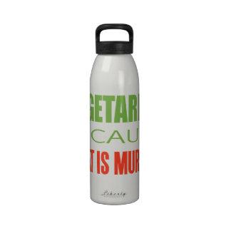 Vegetariano Botellas De Beber