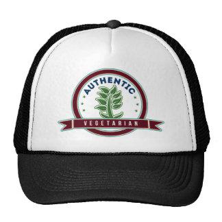 Vegetariano auténtico gorras de camionero