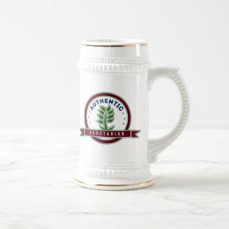 Vegetariano auténtico jarra de cerveza