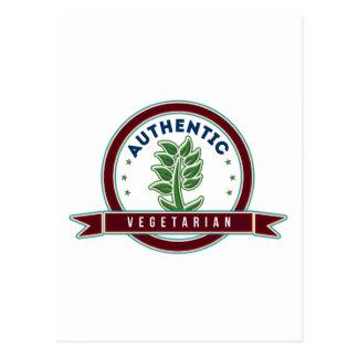 Vegetariano auténtico tarjeta postal