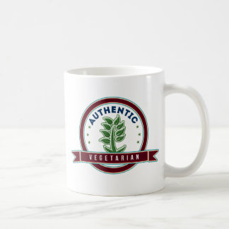 Vegetariano auténtico taza