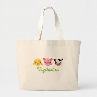 Vegetariano Bolsa De Tela Grande