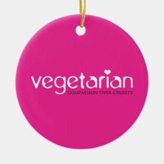 Vegetariano Compasión sobre crueldad Adorno De Navidad