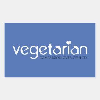 Vegetariano Compasión sobre crueldad Pegatinas