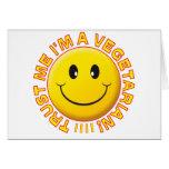 Vegetariano confíeme en sonrisa