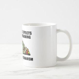 Vegetariano de la ayuda del calentamiento del plan taza de café