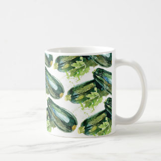 Vegetariano de la verdura del calabacín de las taza clásica