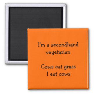 Vegetariano de segunda mano - imán anaranjado dive