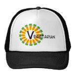 Vegetariano de Sun del círculo de la zanahoria Gorras De Camionero