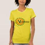 Vegetariano de Sun del círculo de la zanahoria Camiseta