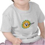 Vegetariano de Sun del círculo de la zanahoria Camisetas