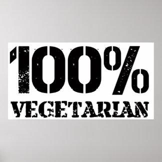 Vegetariano del 100 por ciento póster