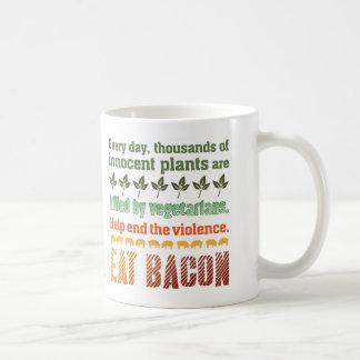 Vegetariano del tocino taza clásica