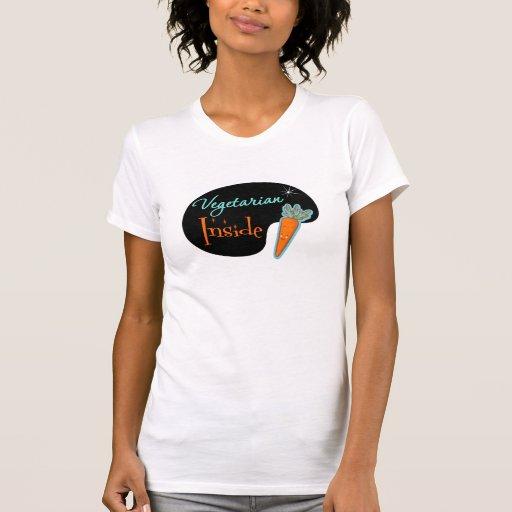 Vegetariano dentro tee shirts