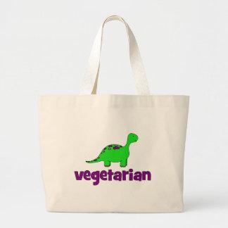 Vegetariano - diseño del dinosaurio bolsas de mano