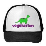 Vegetariano - diseño del dinosaurio gorro de camionero